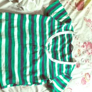 Knit top/crop Green/multi